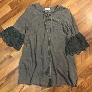 Umgee Boho Acid Washed Tunic/Dress